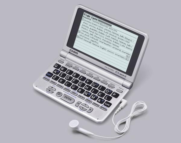 Casio EW-S3100, un diccionario electrónico portátil y parlante