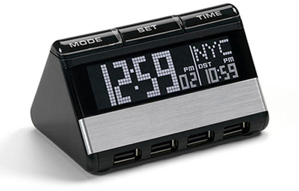 RAS200, un Hub de cuatro USB con reloj internacional