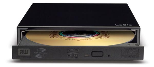 LaCie presenta una grabadora de DVD externa alimentada por USB