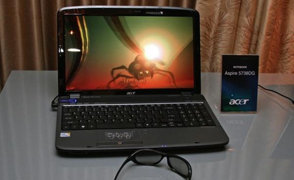 Acer Aspire 5738 DG, un portátil con tecnología 3D y Windows 7