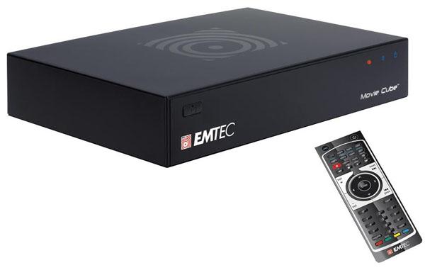 Emtec Movie Cube Q800 1 TB, disco duro multimedia con doble sintonizador de televisión