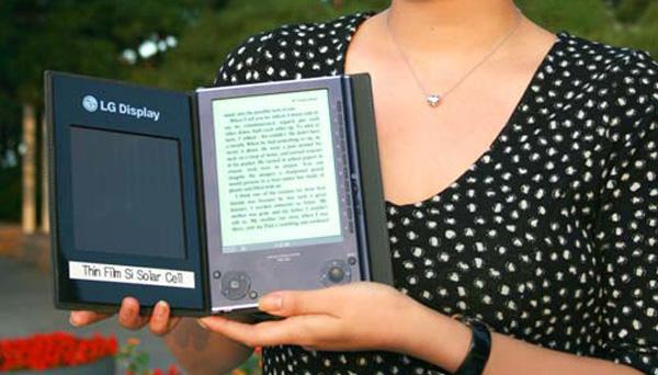 LG presenta un libro electrónico alimentado con energía solar
