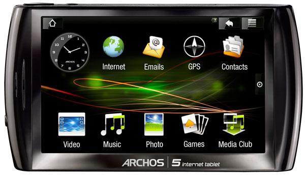 Archos 5 Internet Tablet, con sistema operativo Android