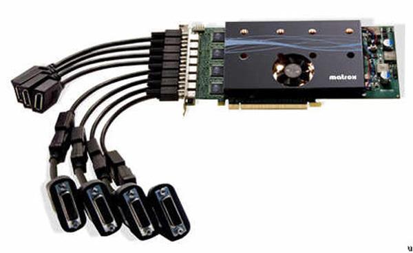 Matrox M9188, ocho pantallas simultáneas a través de una sola entrada PCI-E