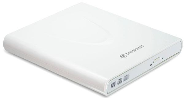 Transcend Grabador de CD/DVD 8x Portátil, una unidad rápida y superdelgada