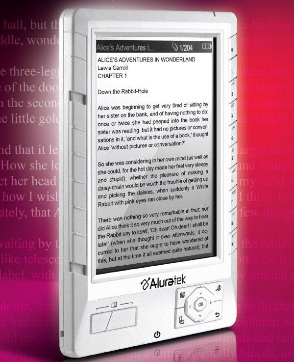 Aluratek Libre, un lector de ebooks con pantalla LCD