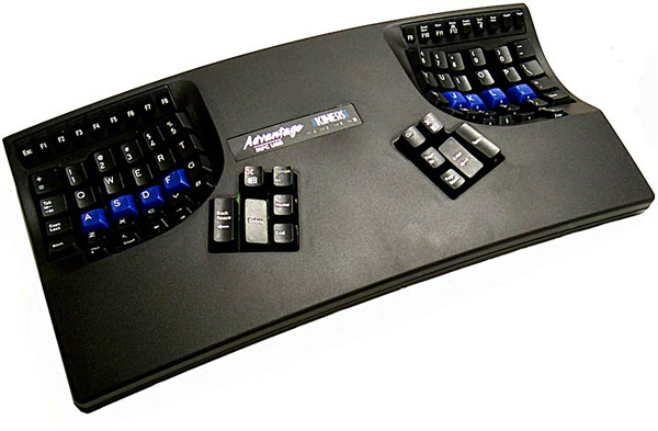 Kinesis Advantage, un teclado de extraño y ergonómico, aunque no económico