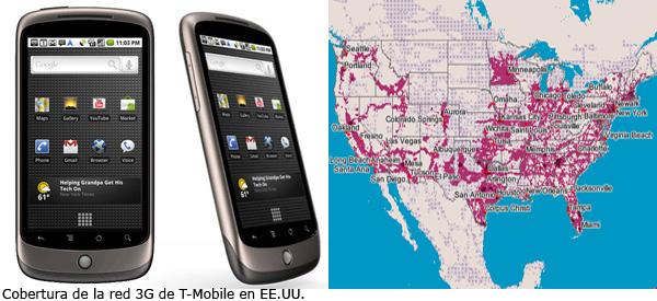 HTC Google Nexus One, con problemas para conectarse a las redes 3G en Estados Unidos