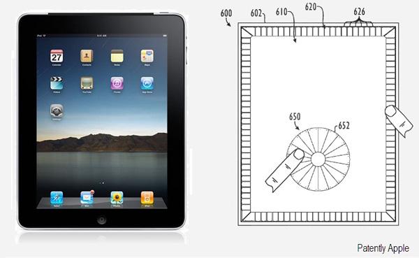 El iPad podría tener en un futuro controles táctiles en el marco