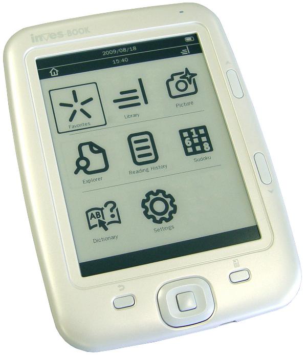 Inves – Book 500, un libro electrónico con pantalla de cinco pulgadas