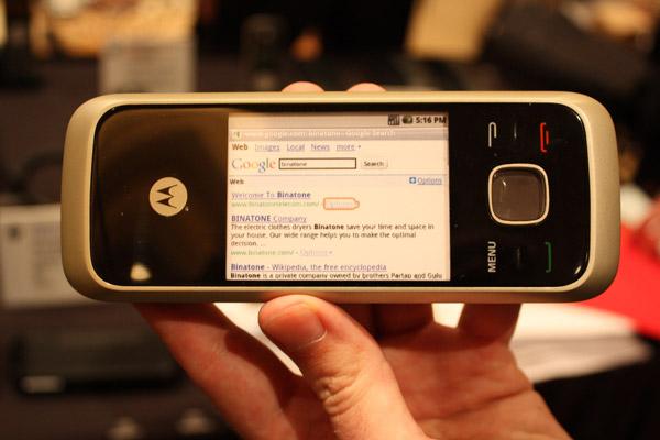 Motorola HS1001, un teléfono fijo doméstico con sistema Android 1.6
