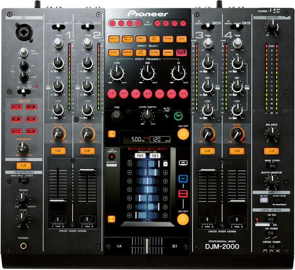 Pioneer djm 2000 mesa de mezclas con pantalla t ctil y for Mesa de mezclas para pc