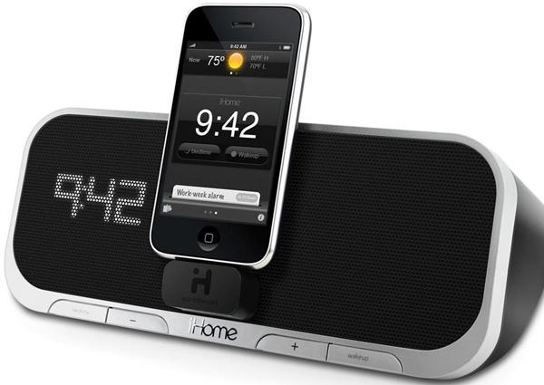 iHome iA5, altavoz dock para iPod y iPhone con un atractivo reloj