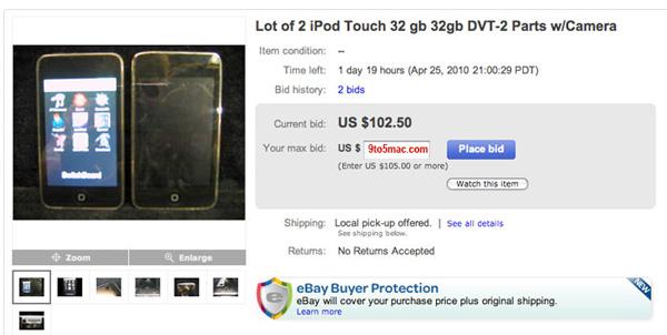 iPod Touch con cámara, se filtran dos prototipos en una subasta de eBay