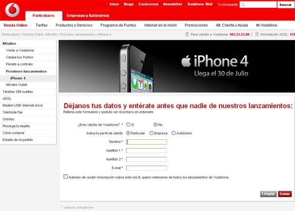 Iphone Vodafone Contrato