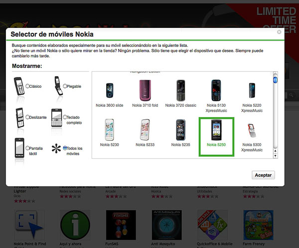 Nokia 5250, se filtra este móvil táctil Nokia en Ovi Tienda