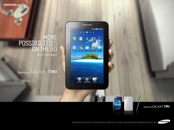 Samsung Galaxy Tab, vídeo de la tableta táctil de Samsung imprimiendo por WiFi