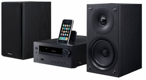 pioneer x hm50 microcadena con soporte para iphone e ipod. Black Bedroom Furniture Sets. Home Design Ideas
