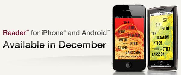 Sony Reader para Android y iPhone, aplicación para leer libros electrónicos en móviles