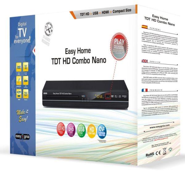 Easy Home TDT HD Combo Nano, lector DVD con sintonizador de TDT en alta definición