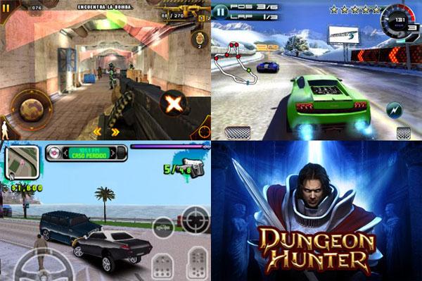 Samsung Galaxy Tab, Gameloft presenta siete videojuegos para Samsung Galaxy Tab