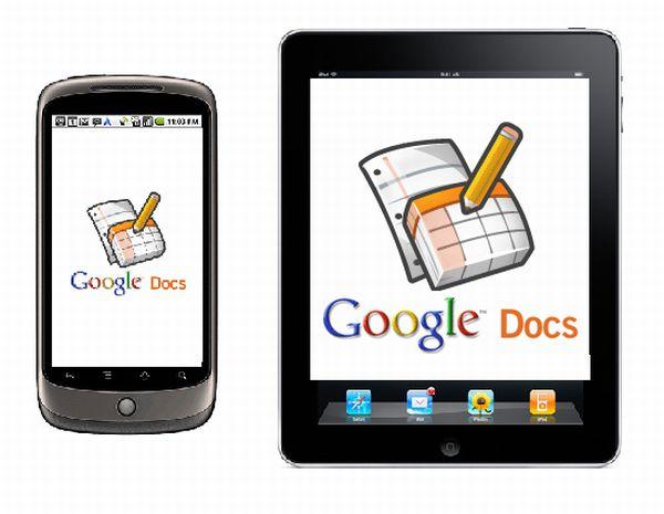 Google Docs para Android y iOS de Apple, ya es posible editar documentos desde un móvil