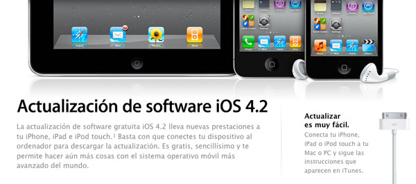 iOS 4.2 para iPhone, iPod y iPad, el sistema operativo de iPhone, iPod y iPad se renueva