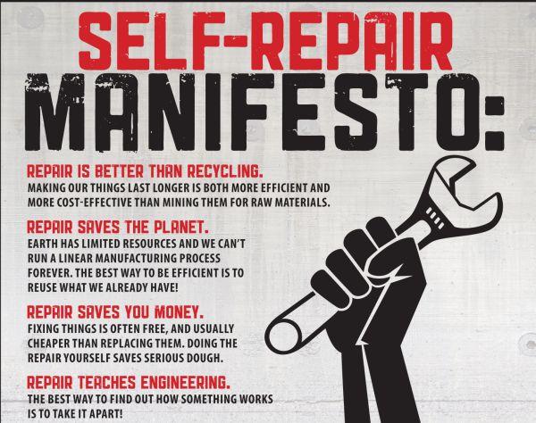 iPod Nano y Manifiesto pro reparación, los consumidores quieren arreglar sus aparatos
