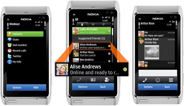 Nimbuzz 3.0 para móviles Nokia, aplicación para llamar y chatear desde un móvil Nokia
