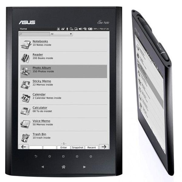 Asus Eee Note EA800, más datos del lector de ebooks de Asus