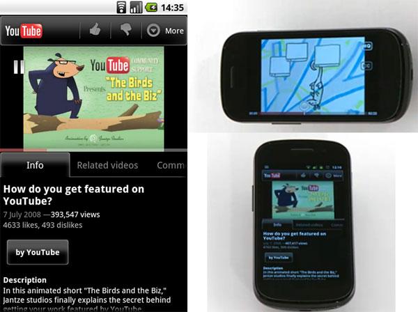 YouTube 2.1 para Android, nueva versión de YouTube para móviles Android