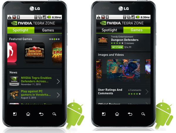 Tegra Zone, tienda de aplicaciones para móviles con NVIDIA Tegra 2