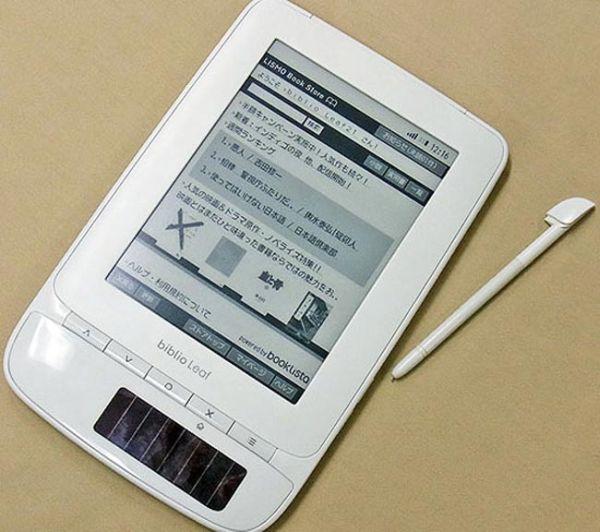 Toshiba Biblio Leaf SP02, el e-reader de Toshiba es solar