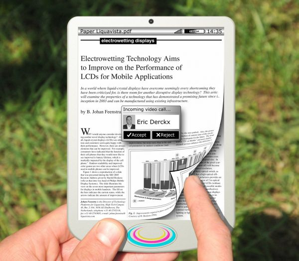 Samsung compra una nueva tecnología de tinta electrónica en color