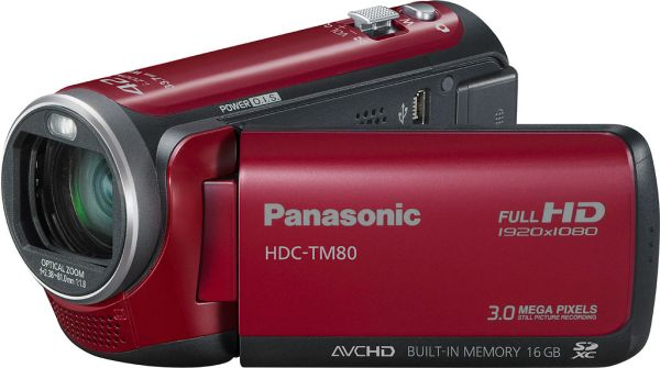 Panasonic HDC-TM80, videocámara de alta definición con micrófono zoom