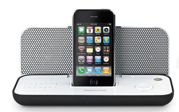 Memorex Pureplay, nuevo sistema de sonido para iPod e iPhone, plegable