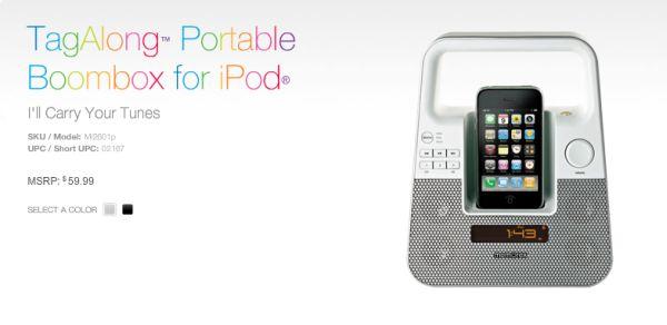 Memorex TagAlong altavoces para iPod con alma de blues