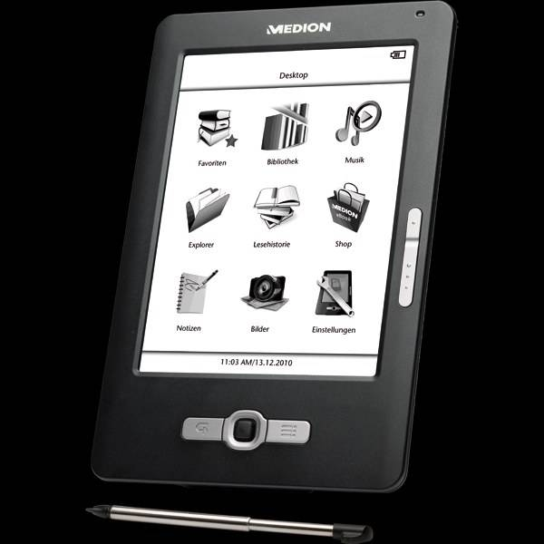 Medion MD86371, un lector de libros electrónicos por 150 euros