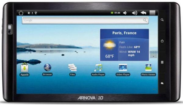 Archos Arnova 10, tableta táctil con Android y WiFi
