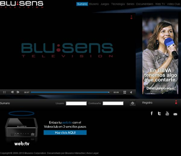 Blusens y cine por Internet, Blusens abre una oferta de tarifa plana en su videoclub por Internet