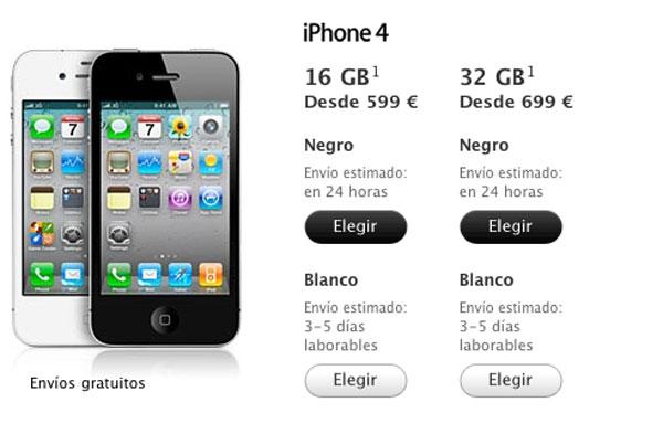 iphone libre 4 precio