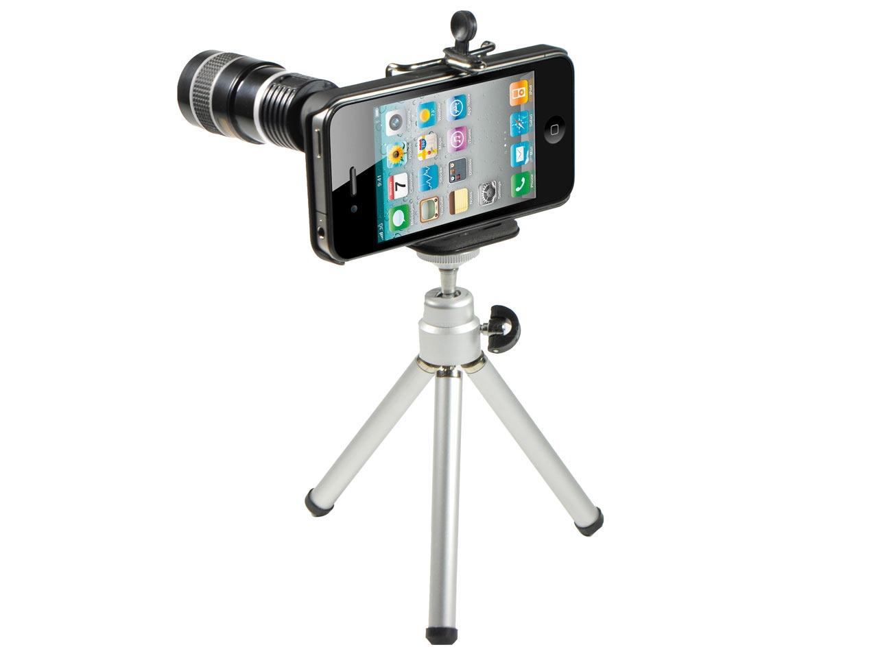 iPhone 4, Rollei 8x teleobjektiv, un teleobjetivo para una cámara deficiente
