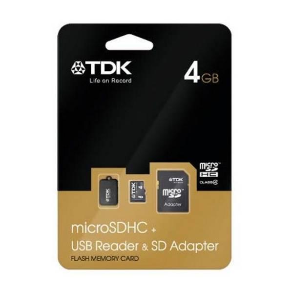 TDK micro SDHC, tarjeta de memoria con adaptador para formato SD y lector USB