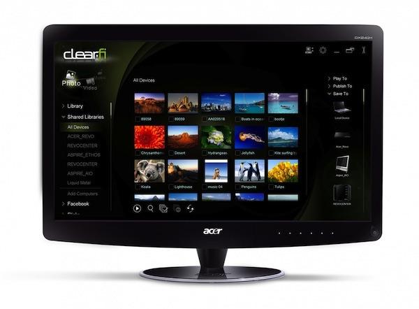 Acer DX241H, un monitor de alta definición con navegador incorporado