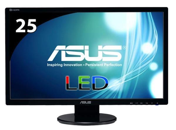 Asus VE258Q, monitor LED de mucha calidad preparado para conectar a otros monitores