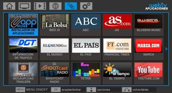 Blusens web:TV, nuevos canales y aplicaciones en Blusens web:tv