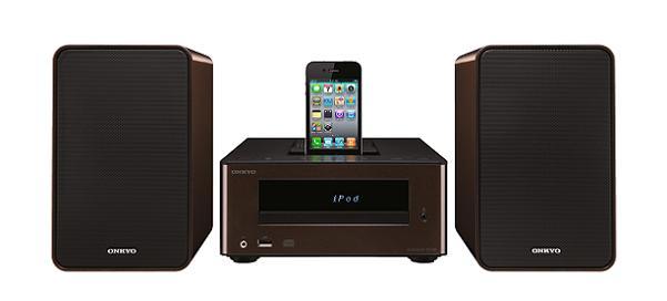 Onkyo CS245, micro cadena de diseño con puerto para iPod y iPhone
