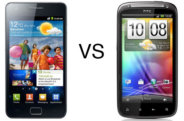 Samsung Galaxy S II vs HTC Sensation, comparativa entre estos dos móviles Dual Core