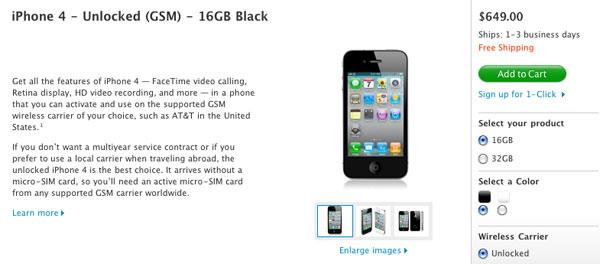 iPhone 4 libre, ya se puede conseguir el iPhone 4 libre en Estados Unidos