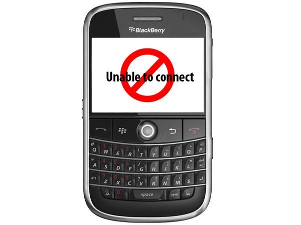 Un fallo deja a los usuarios de BlackBerry sin internet